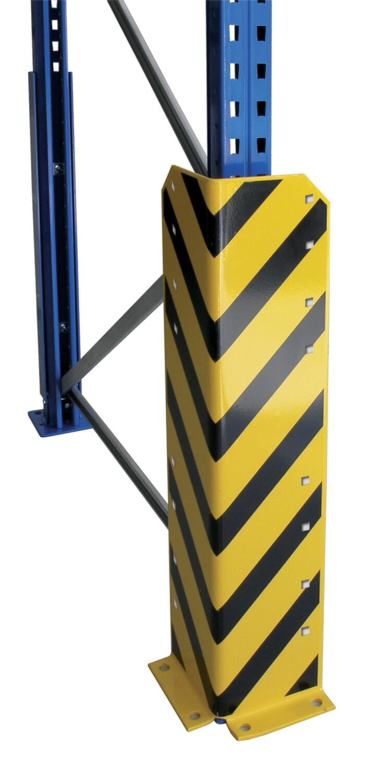 Aanrijbescherming, L-vorm, H800 mm, geel/zwart