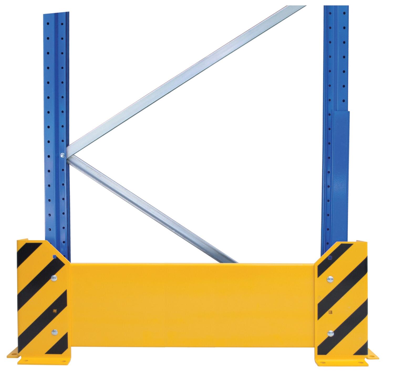 Aanrijbescherming, Wand, H400 x D1.100 mm, geel/zwart