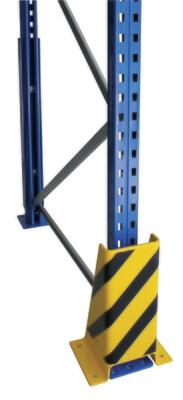 Aanrijbescherming, U-vorm, H400 mm, geel/zwart