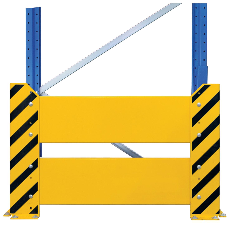 Aanrijbescherming, Wand, H800 x D1.100 mm, geel/zwart