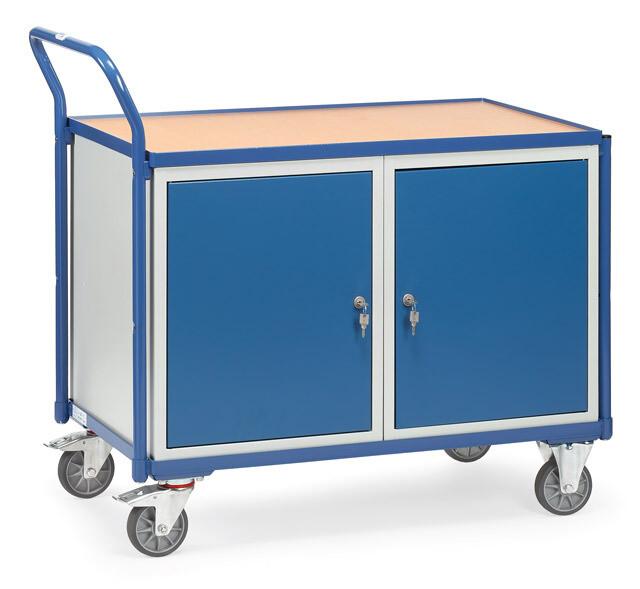 Werkplaatswagen 300 kg, 2 Deuren, Hout, RAL 5007