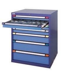 Schuifladenkast, H1.000 x B805 x D695 mm, blauw