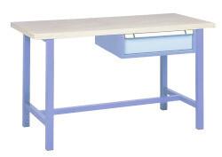 Standaard werkbank, 1 Schuiflade, H840 x D700 mm, blauw