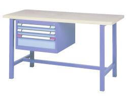 Standaard werkbank, 3 Schuifladen, H840 x D700 mm, blauw