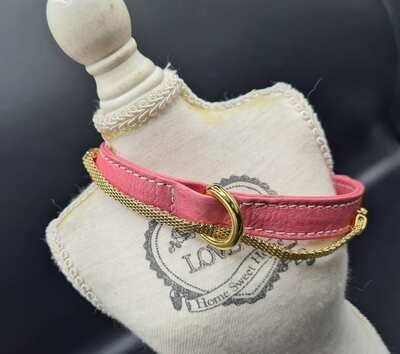 Brigitte Rosa collar 35cm