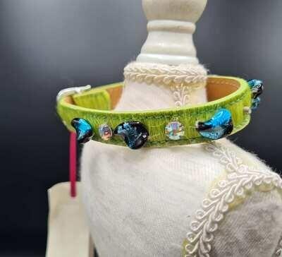 Blue stone halsband 25cm