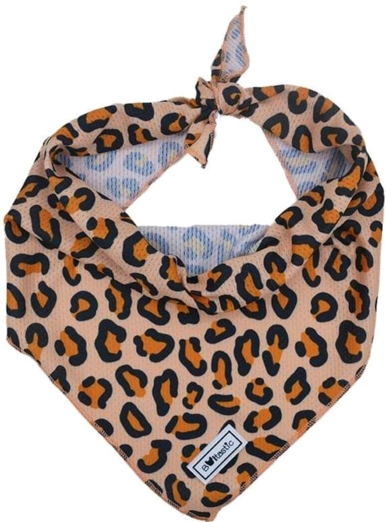 Bandana leopard beige