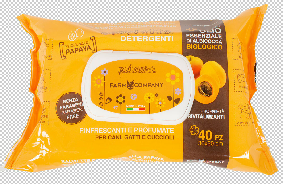 Verzorgende doekjes(wipes) voor huisdieren met biologische abrikozenolie en papaja geur 12x