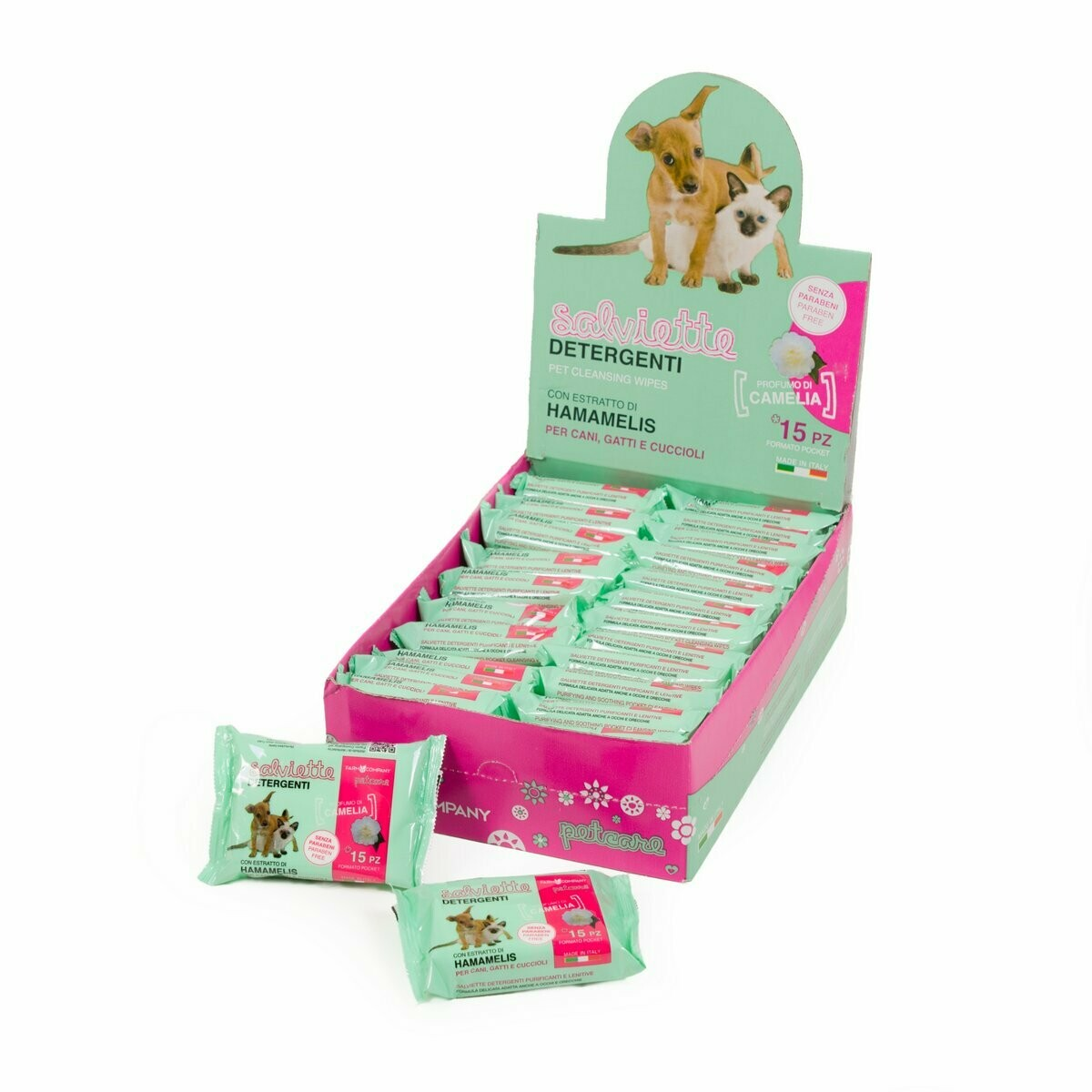 Pocket cleansing wipes Camelia & Hamamelis expo 24 pcs