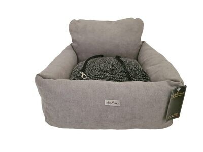 Aurora enjoy new grey + jacquard black dots autostoel - Stock