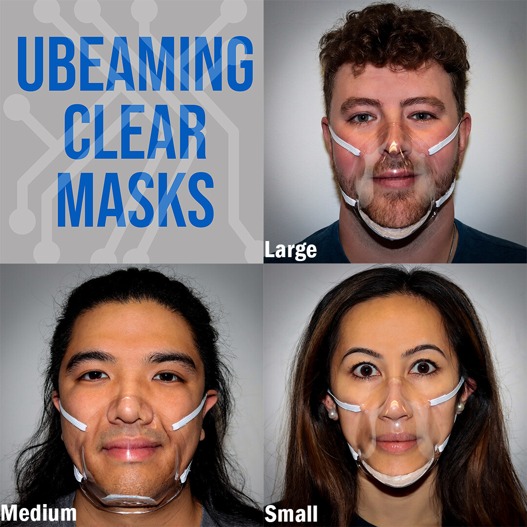 uBEaming Clear Masks