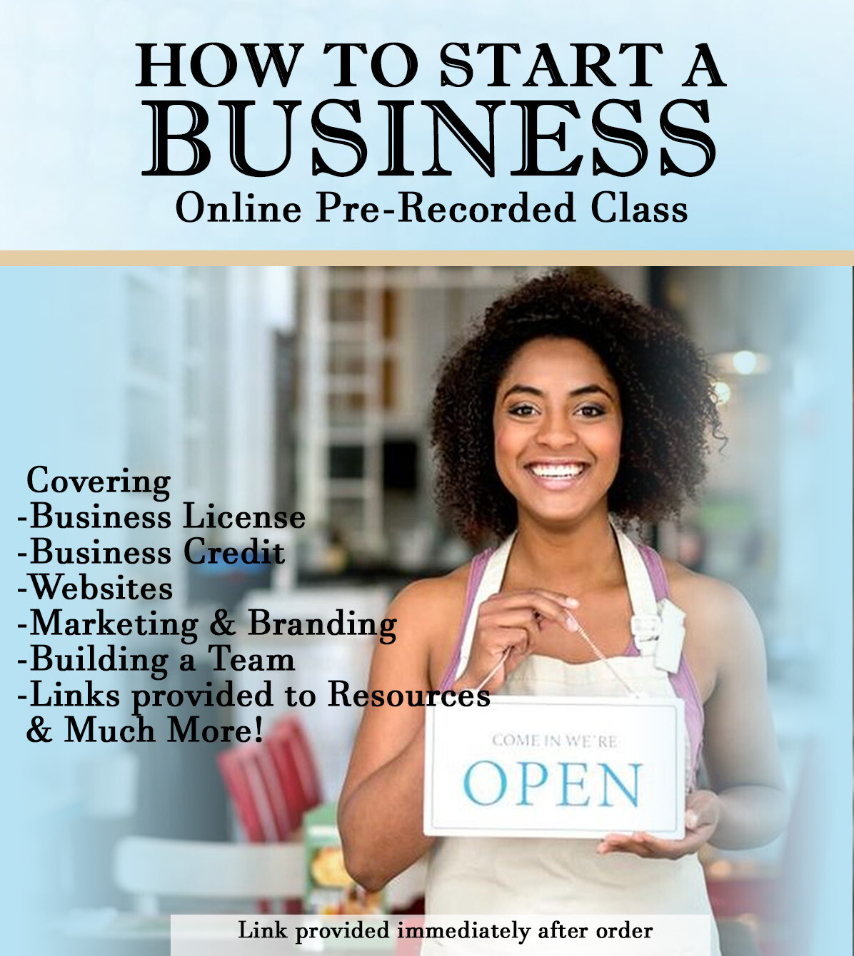 How To Start A Business Online Class