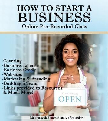 How To Start A Business Online Class