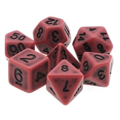 7 Die Set: Ancient Ruby