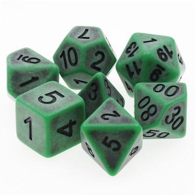 7 Die Set: Ancient Jade