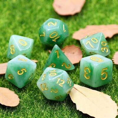 7 Die Set: Gilded Green Jade