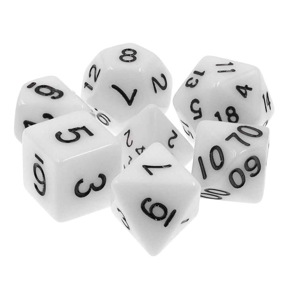 7 Die Set: Opaque White
