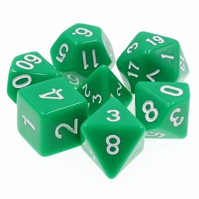 7 Die Set: Opaque Green