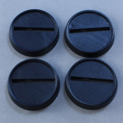 25mm Round Lipped Plastic Base (20ct)