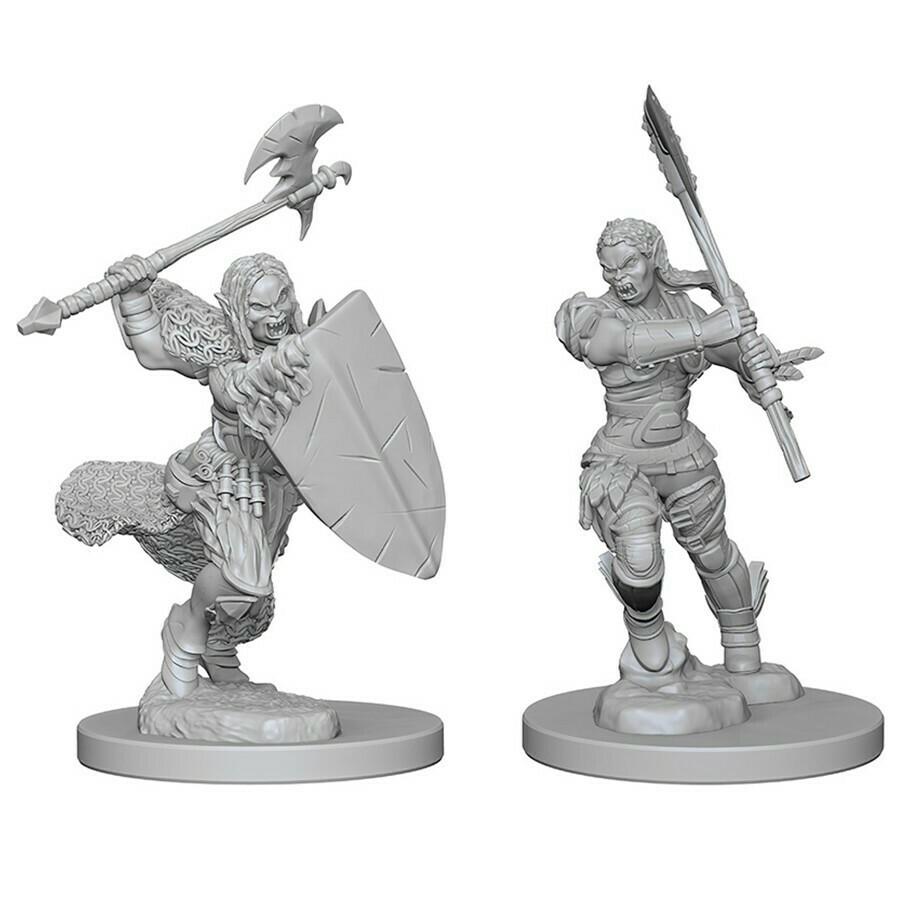 Female Half Orc Barbarian W1