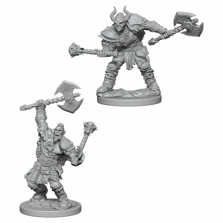 Male Half Orc Barbarian W3