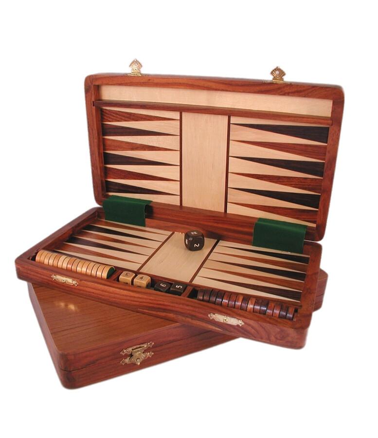 "Backgammon: 12"" Folding Wood"