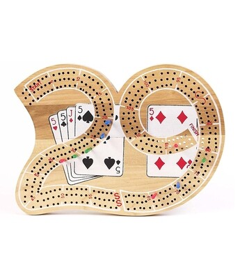 Cribbage: '29' 3-Track Wood