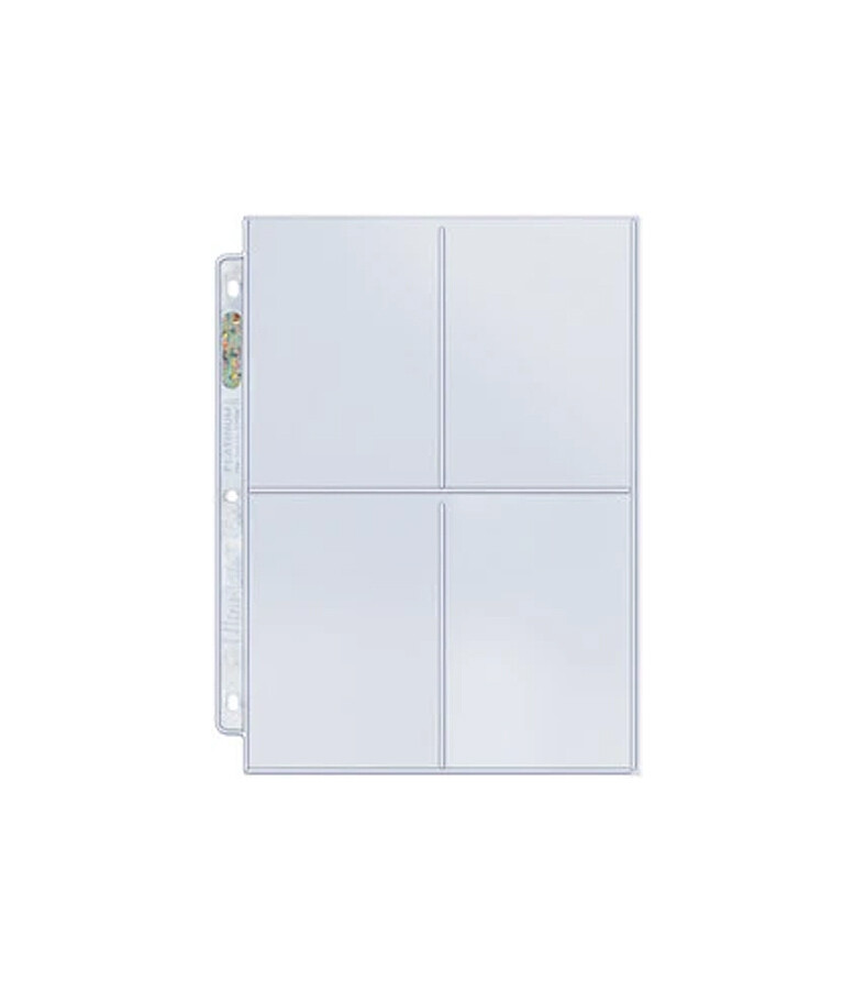 Binder Pages: 4-Pocket  3-1/2in x 5in Pockets