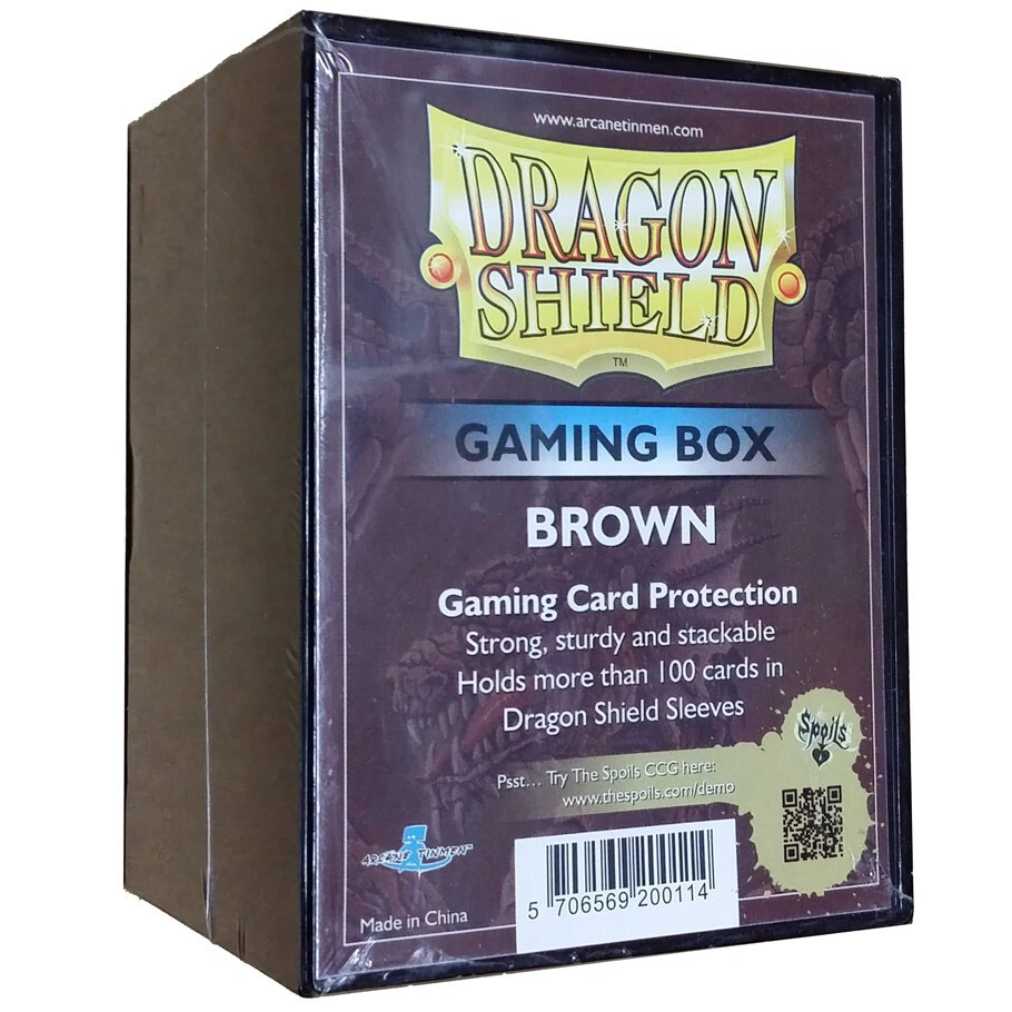 Deck Box: Dragon Shield: Gaming Box Brown