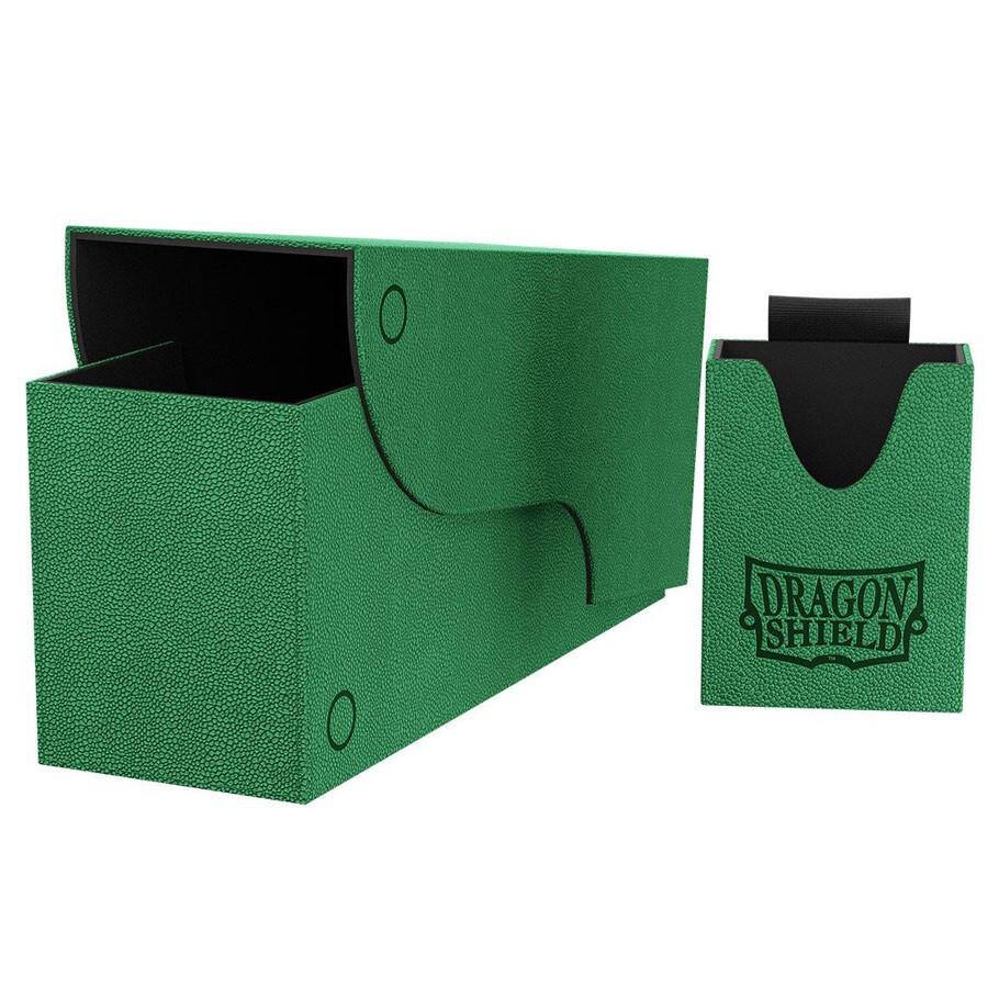 Deck Box: Dragon Shield: Nest+ 300 Green/Black