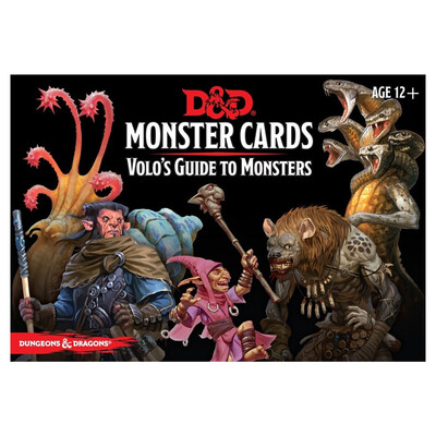 D&D 5e: Monster Cards: Volo's Guide To Monsters