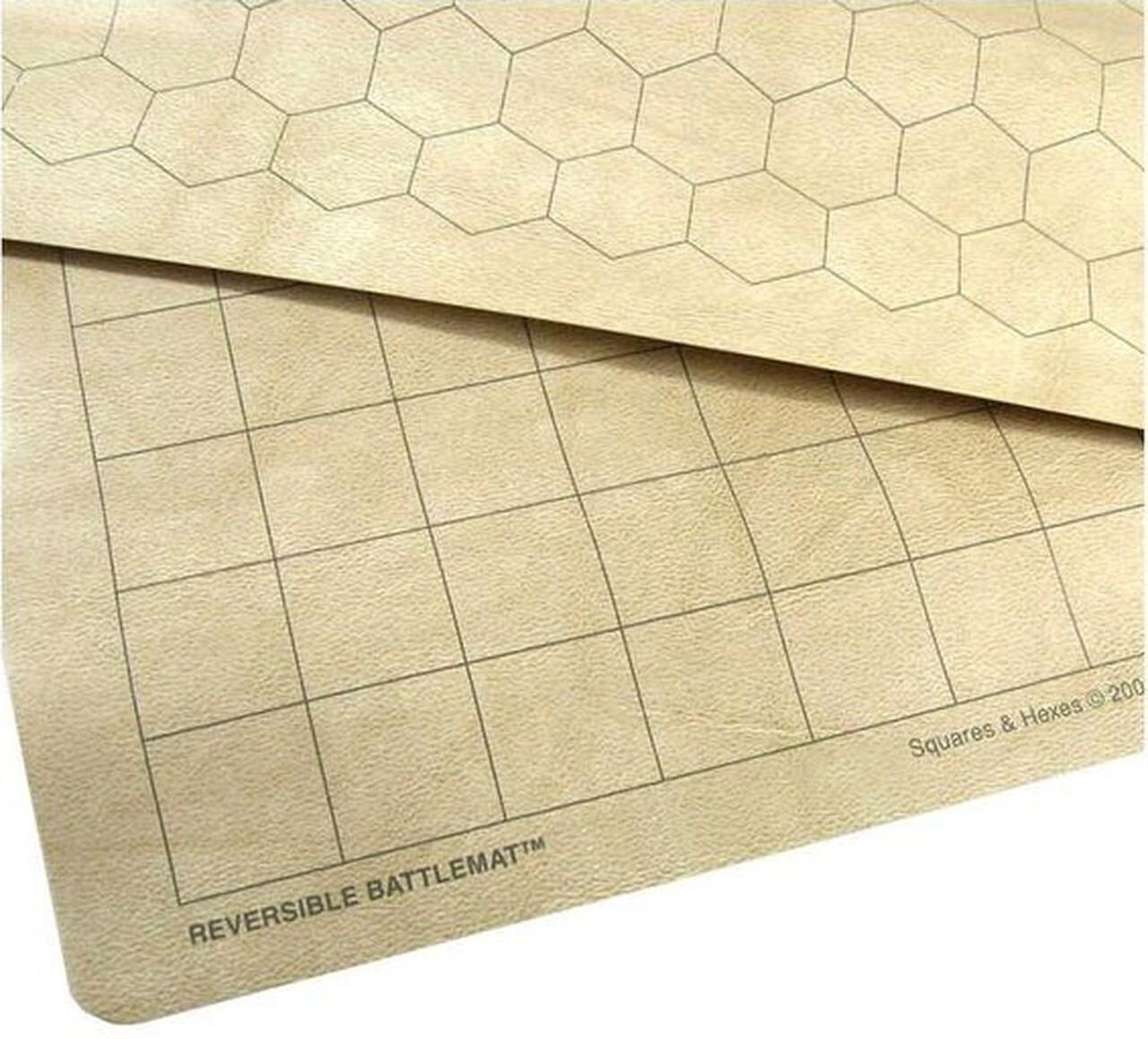 """Reversible Battlemat 1"""" Squares & Hexes (23.5""""x26"""")"""