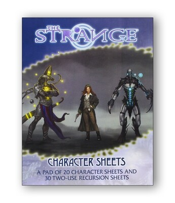 The Strange: Character Sheets