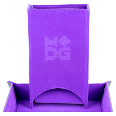 Velvet Fold Up Dice Tower: Purple