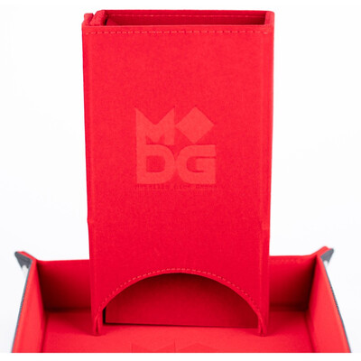 Velvet Fold Up Dice Tower: Red
