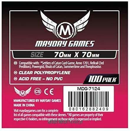 Mayday Sleeves: 70x70mm (100ct)