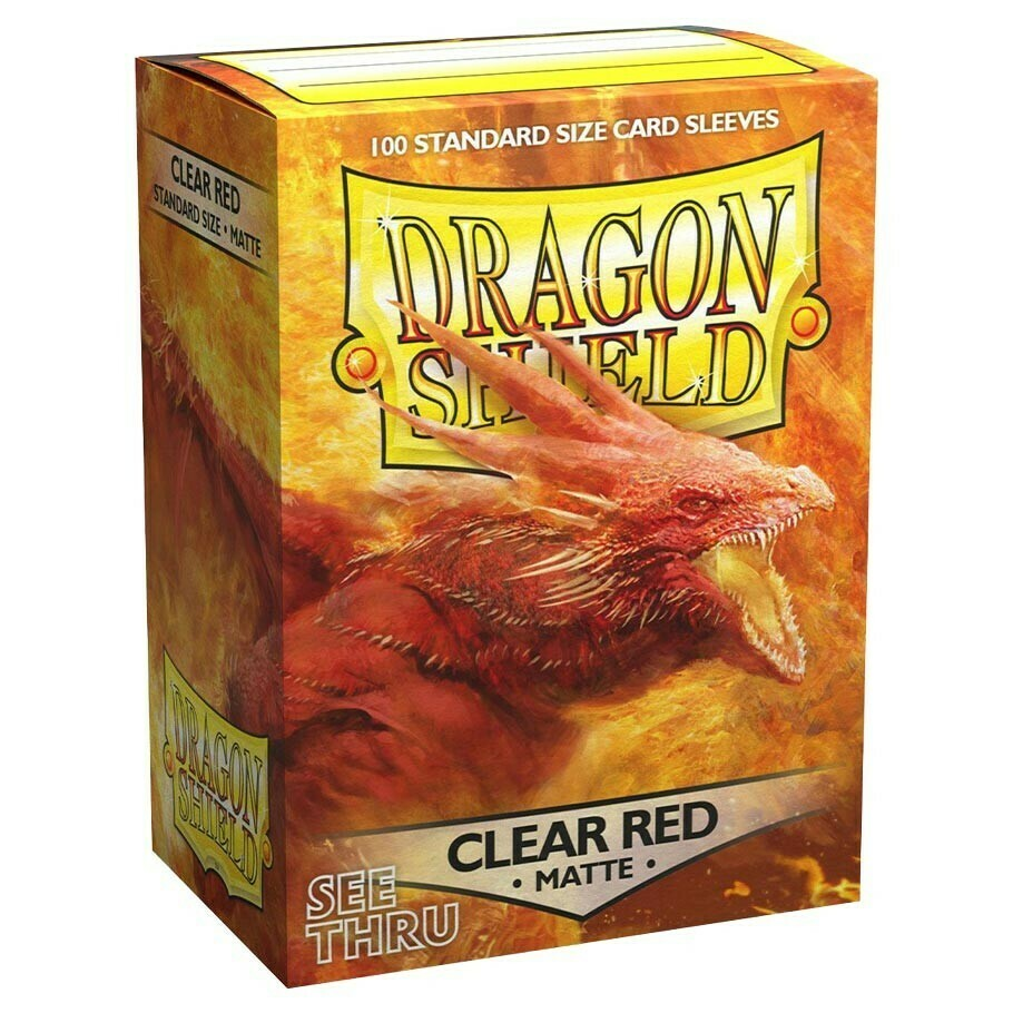 SLV: Dragon Shield Matte Clear Red (100)