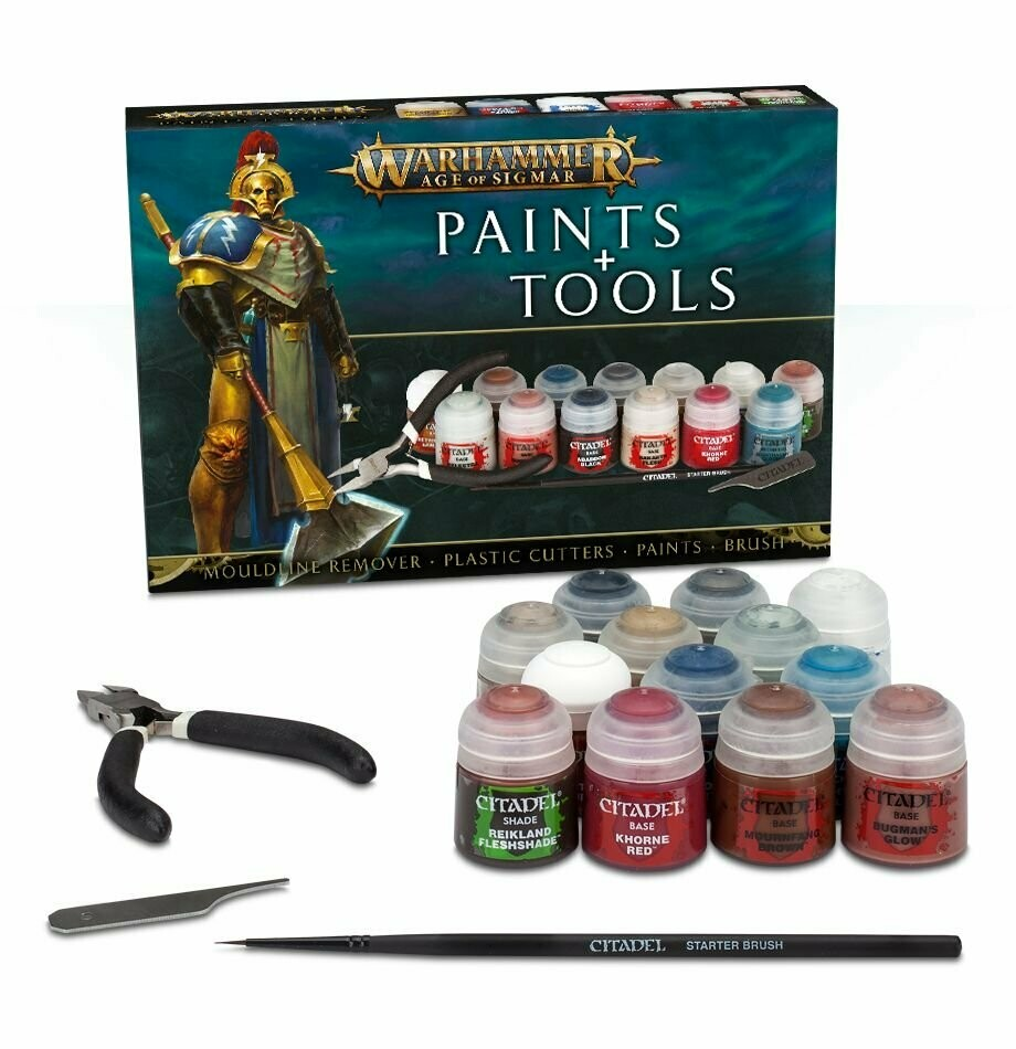Age of Sigmar Paints + Tools Set