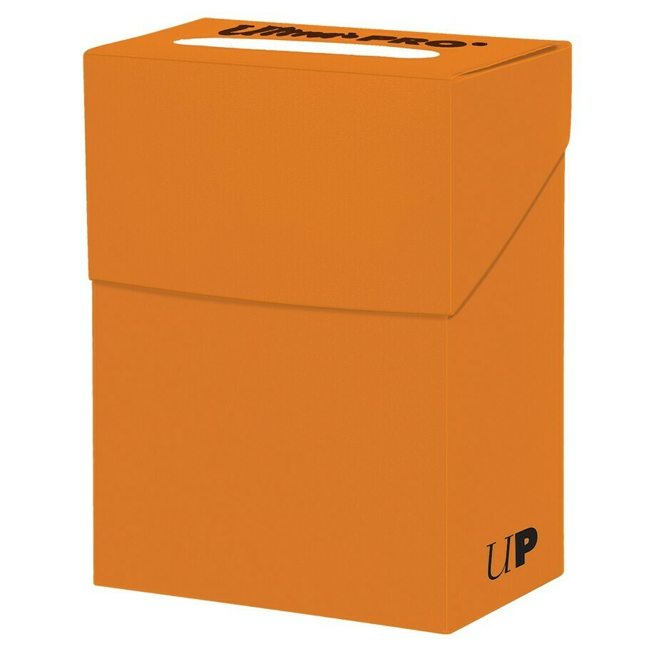 Deck Box: Solid Pumpkin Orange