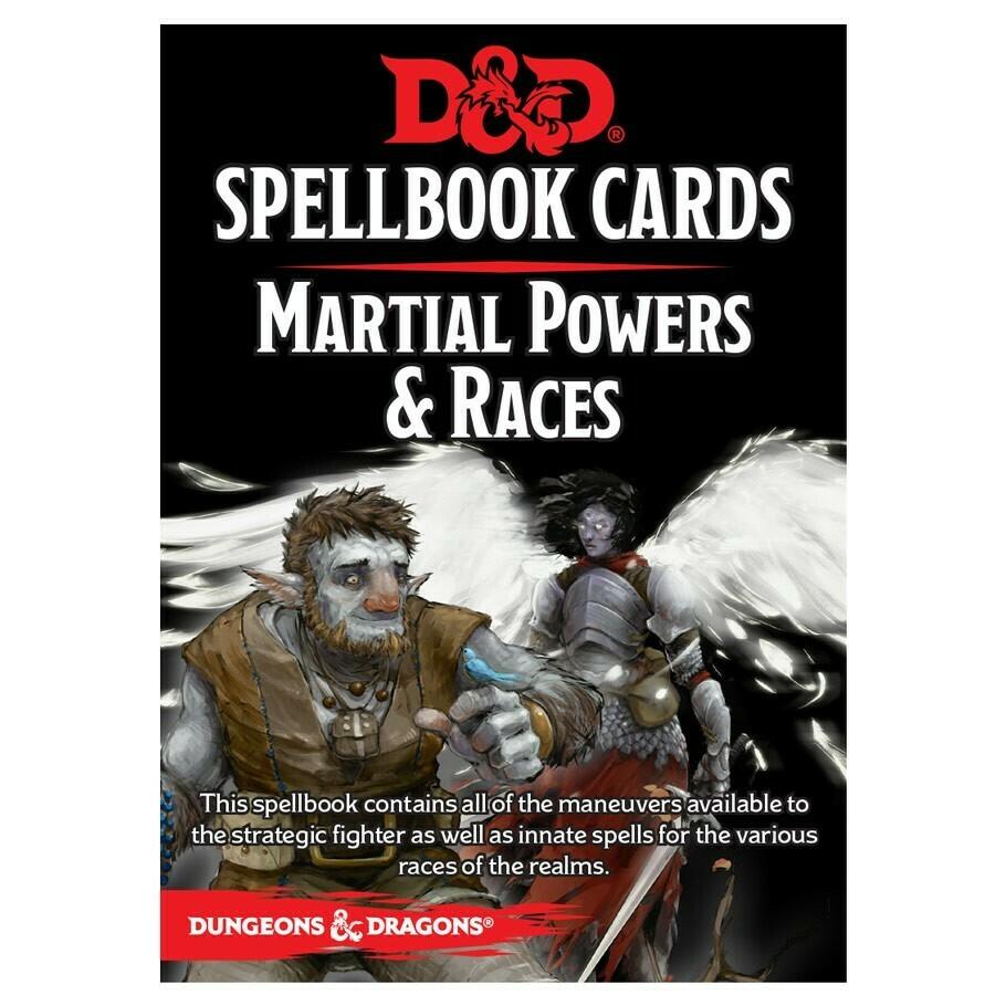D&D 5e: Spellbook Cards: Martial & Race