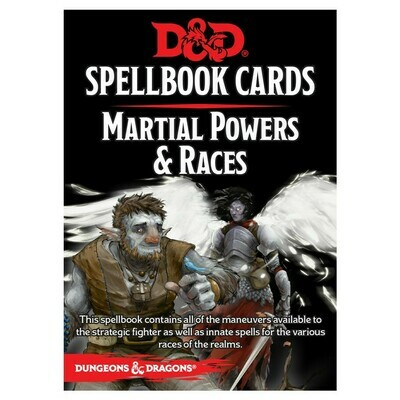 D&D 5e: Spellbook Cards: Martial & Race