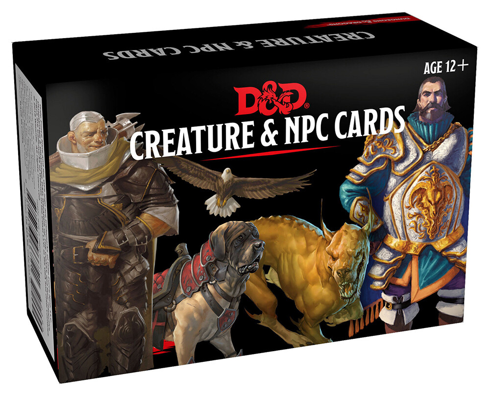 D&D 5e: D&D Cards: Creature & NPC