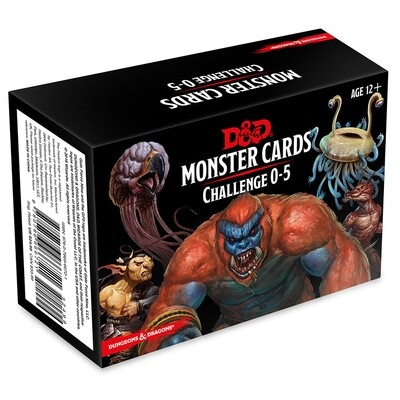 D&D 5e: Monster Cards: Challenge 0-5