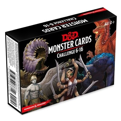 D&D 5e: Monster Cards: Challenge 6-16