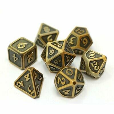 7 Die Metal Set: Mythica Battleworn Gold