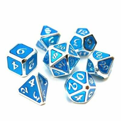 7 Die Metal Set: Mythica Platinum Aquamarine