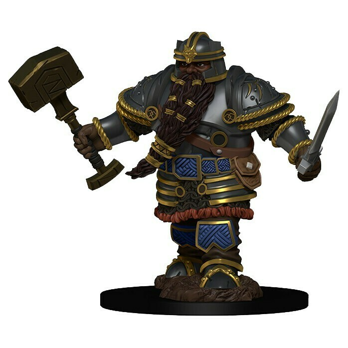 Icons of the Realm Premium: Dwarf Male Fighter