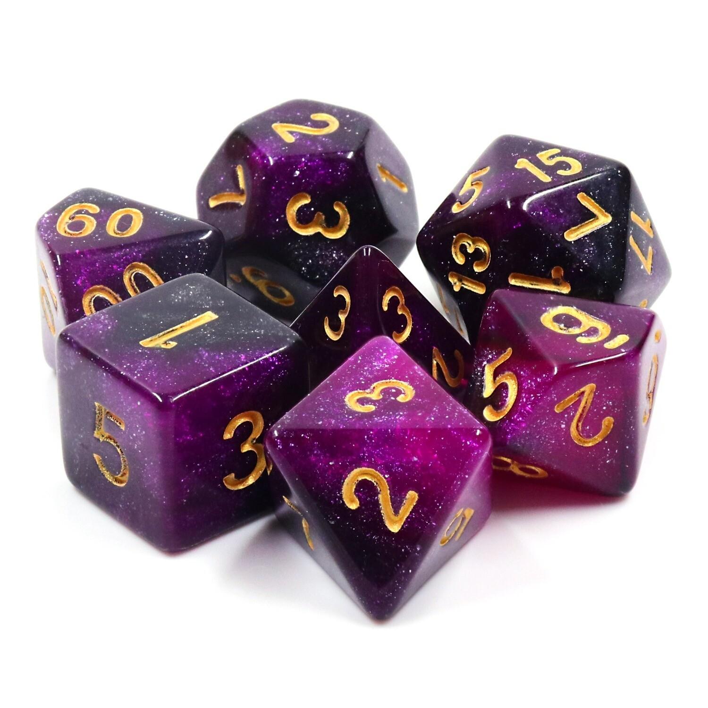 7 Die Set: Purple Galaxy