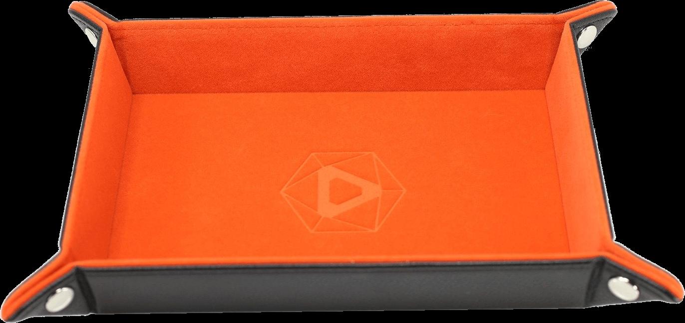 Die Hard Dice Tray Rectangular with Orange Velvet