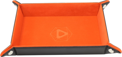 Die Hard Dice Tray Rectangular with Orange Velvet